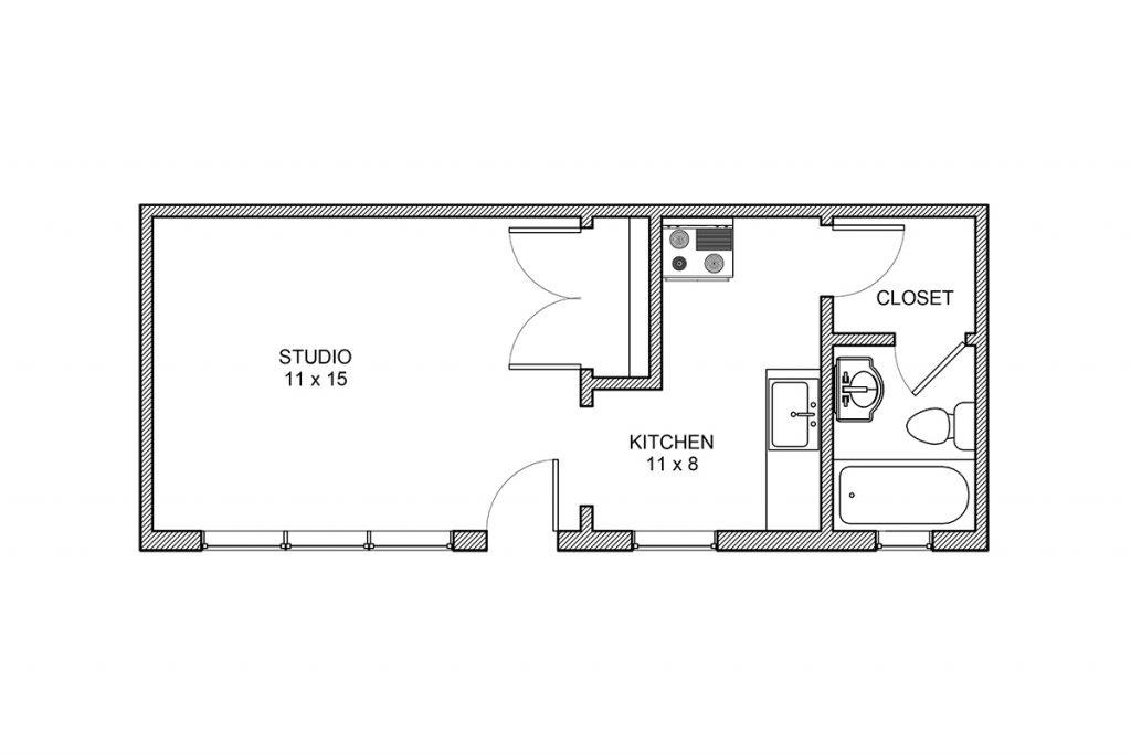 Oliver Court, Studio