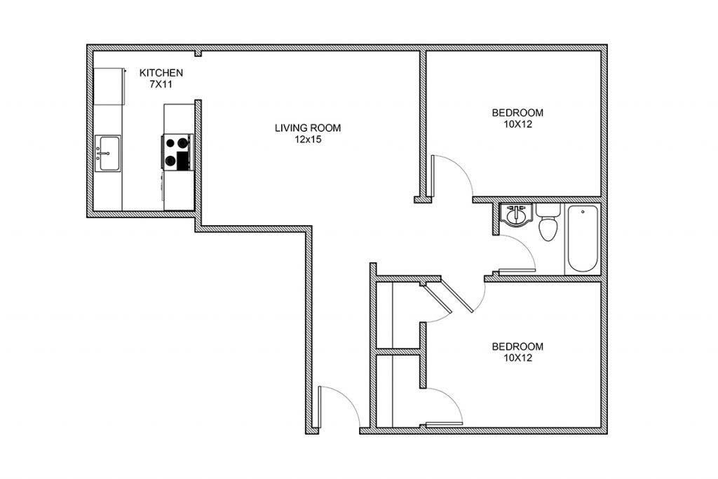 Stanton, Two Bedroom Apartment, Rochester NY