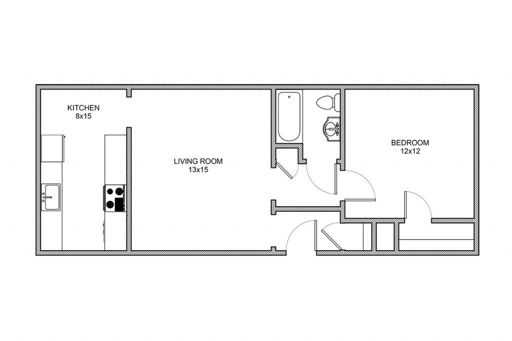 Stanton, One Bedroom, Rochester NY