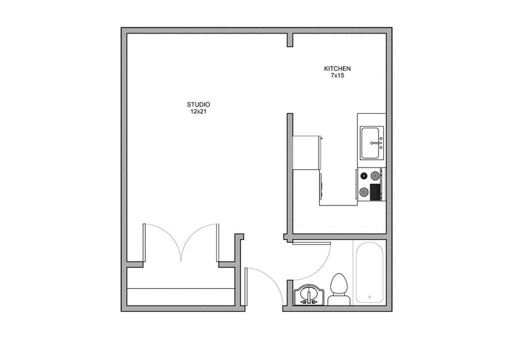 Whittier, Studio Apartment, Rochester NY