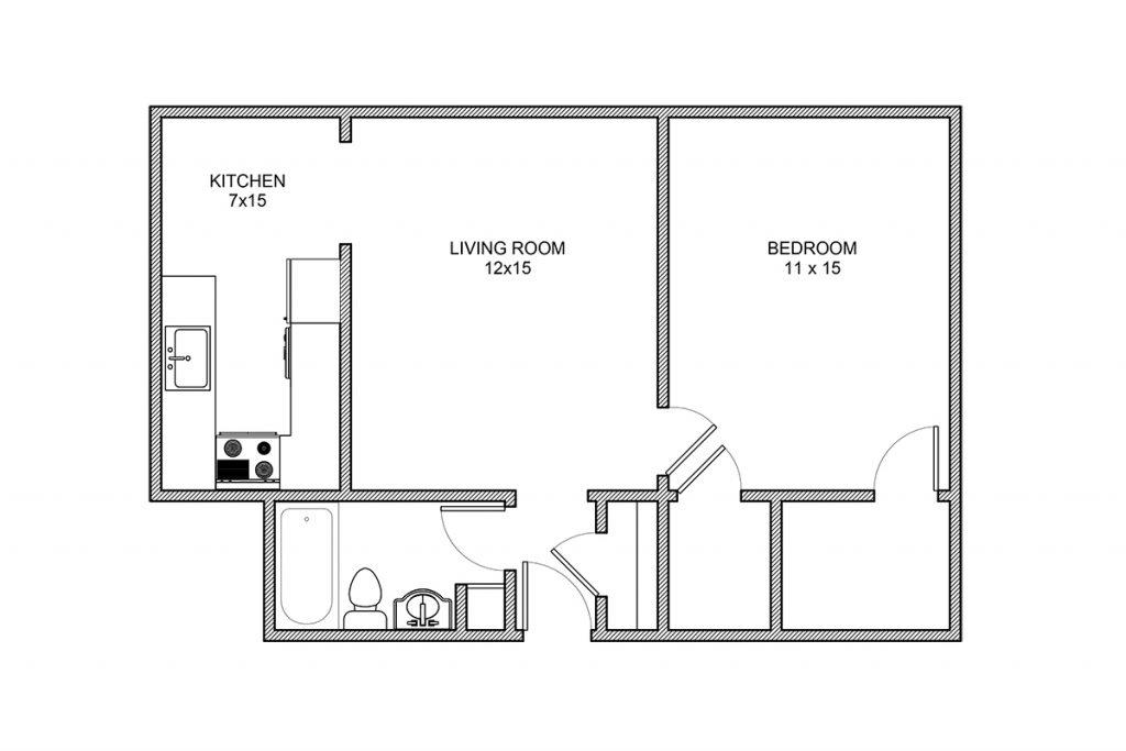 Whittier, One Bedroom