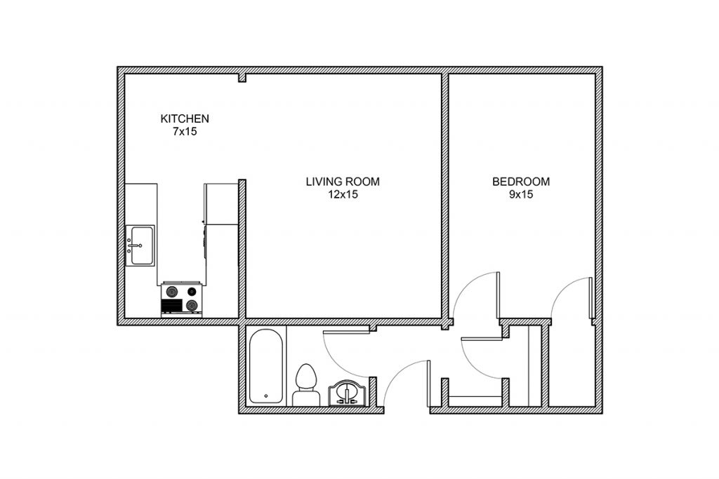 Whittier, One Bedroom, Rochester NY