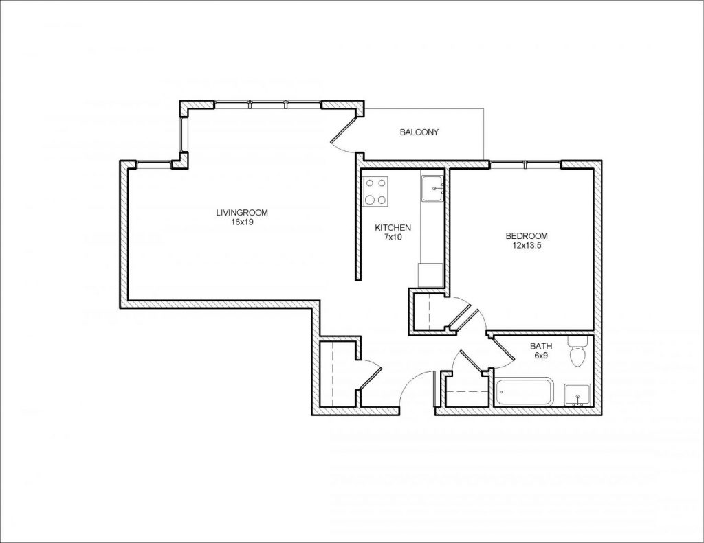 Algonquin 1 Bedroom Floor Plan