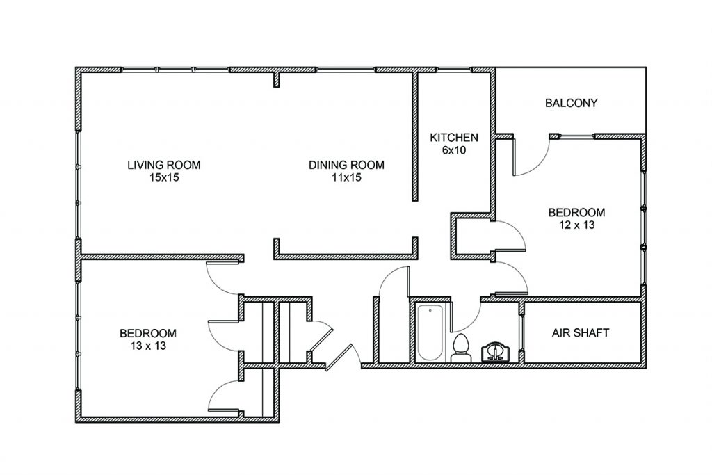 Algonquin, Two Bedroom Apartment