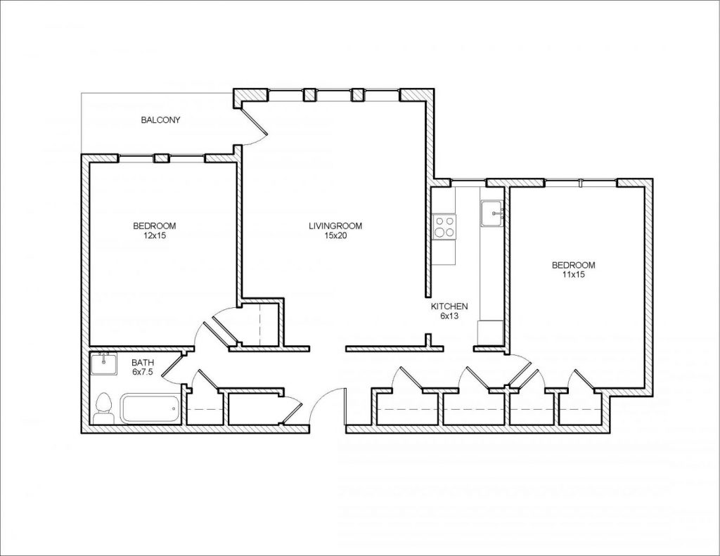 Algonquin 2 Bedroom Floor Plan