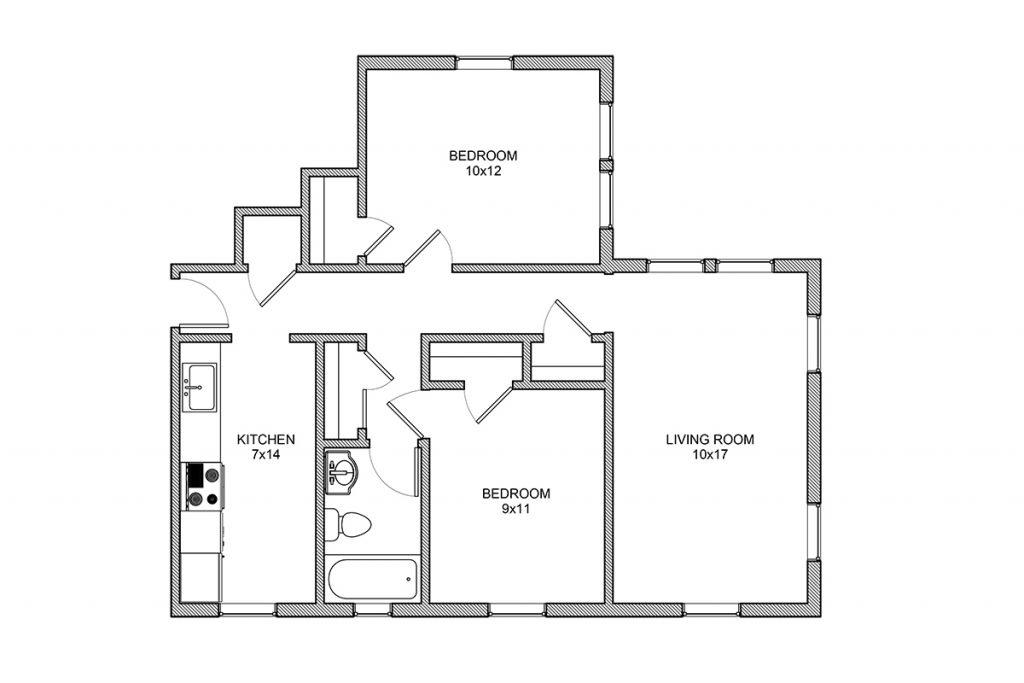 Berkeley, Two Bedroom apartment, Rochester NY