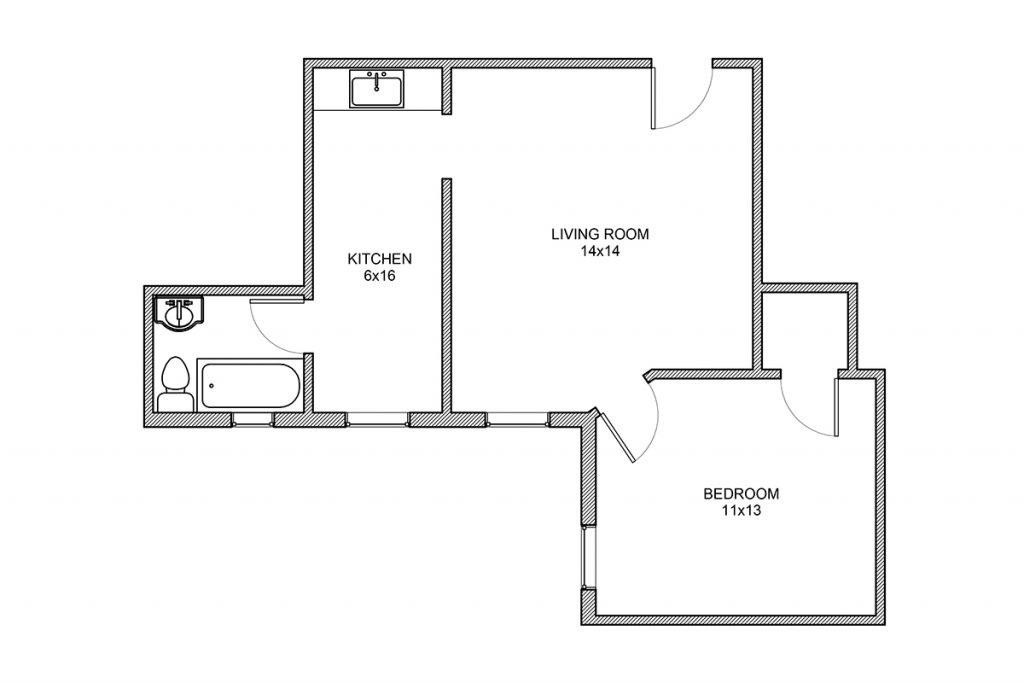 Haddon, One bedroom