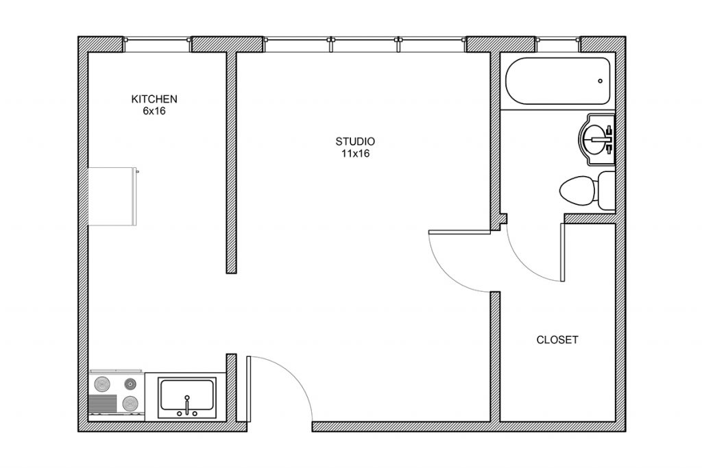 Haddon, Studio Apartment