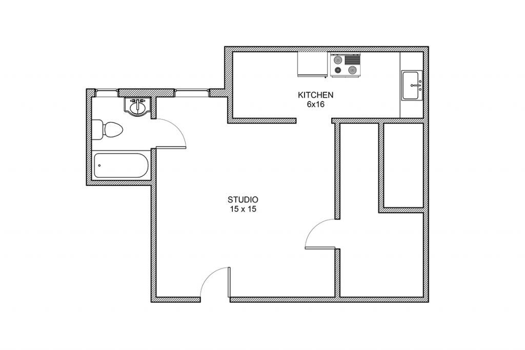 Haddon, Studio, Studio Floor Plan