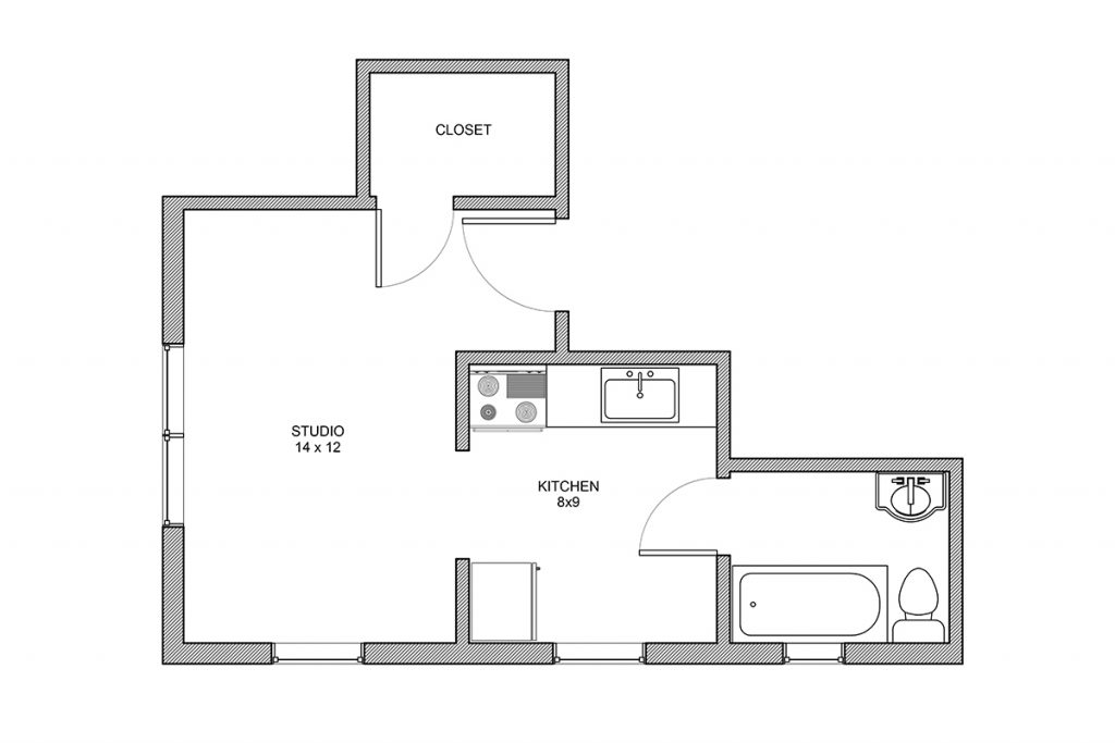Haddon, Studio, Studio Apartment