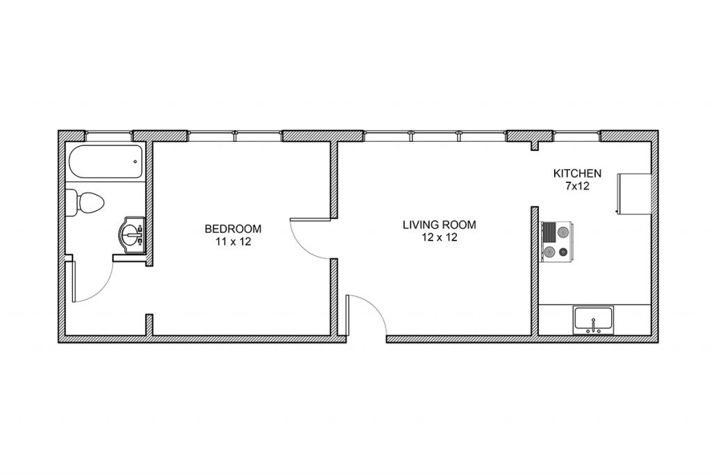 Oliver Court, One Bedroom