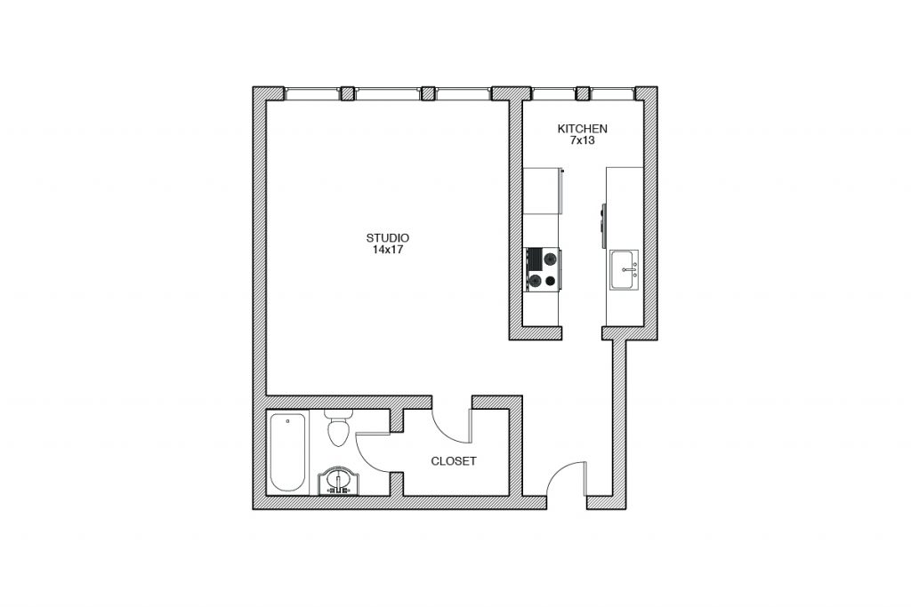 Shelbourne, Studio Floor plan