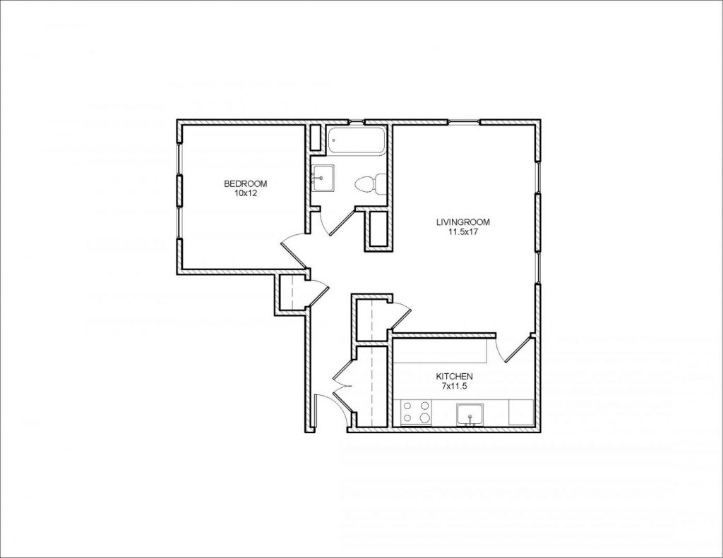 Stanton 1 Bedroom Floor Plan