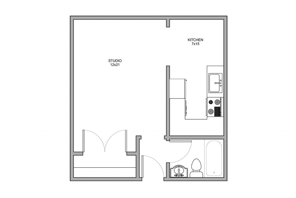 Whittier, Studio Apartment, Rochester NY